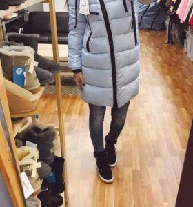 Куртка длинная стильная