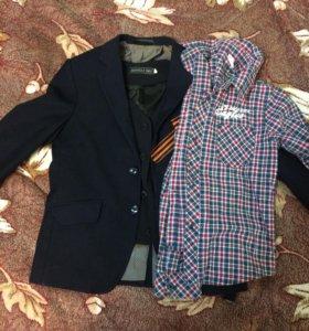 Пиджак рубашка жилетка в хорошем качестве6-8лет