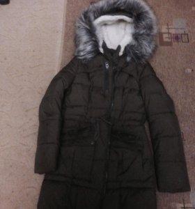 Куртка-пальто зимнее +ботинки