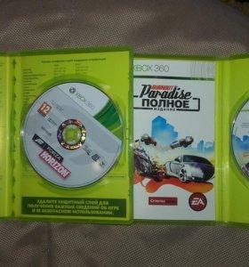 2 игры на Xbox 360 Forza Horizon, Burnout Paradise