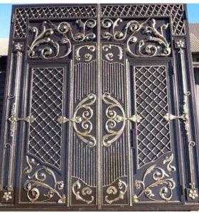 Ворота,двери,перила,навесы,решетки.