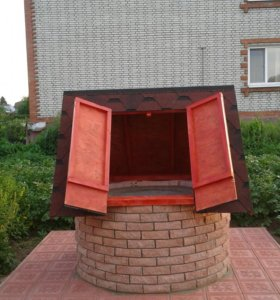 Изготовление домиков для колодцев