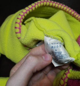 Комплект: флисовая желтая шапка, перчатки, шарф