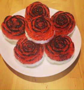 Роза мыло-скраб