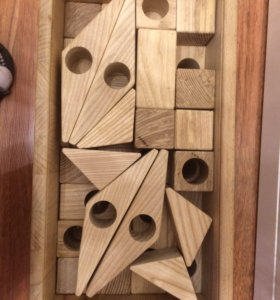 Набор кубики деревянные