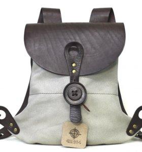 Дизайнерский кожаный рокзак
