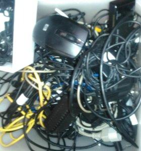 Зарядки,наушники,мышка
