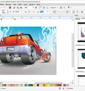 Отрисовка растрового изображения в Corel Draw