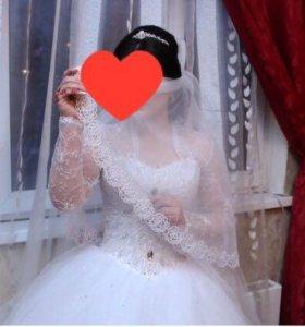 Свадебное платье+шубка в подарок