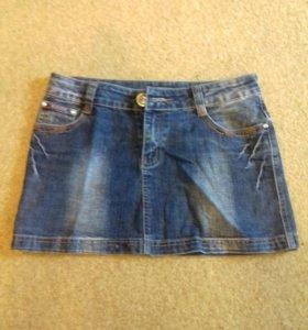Юбка джинсовая б/у