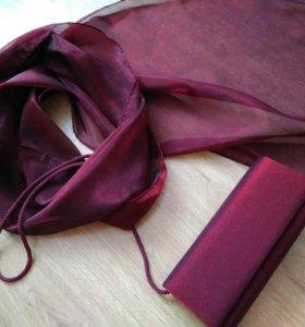 Клатч с шарфом