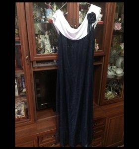 Платье вечернее в пол размер 56-58