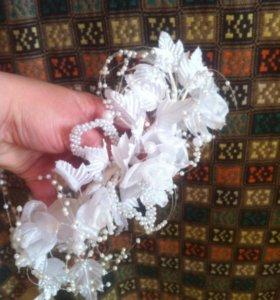 Ободок веточка украшение для невесты