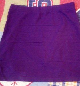 Юбка фиолетовая