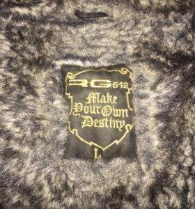 Зимняя, кожанная куртка, на меху