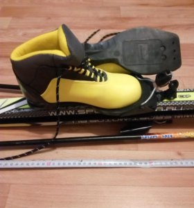 Лыжи,ботинки,палки