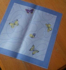 Салфетки 10 шт..новые текстиль