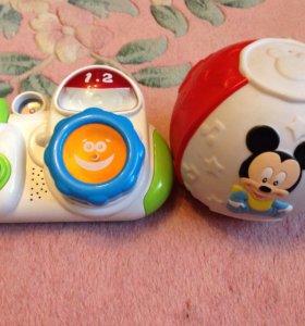 Музыкальные игрушки. Фотоаппарат. Мяч