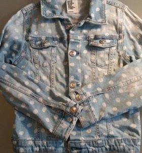 Джинсовпя куртка 128 H&M