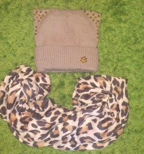 Комплект кошка-шапка и шарфик