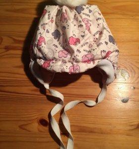 Теплая шапочка для малышей