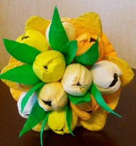 Букет из конфет, тюльпаны