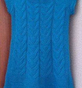 Платье вязаное новое р.42