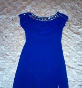 Платье, цвет-синий, размер 40.