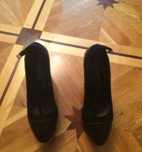 Туфли кожа-замша