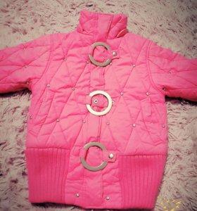 Теплая куртка для девочки 5-6лет ТОРГ