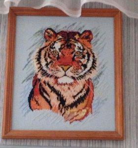 Тигр 🐯 вышивка крестом.