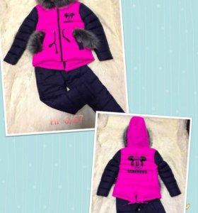 Зимний детский костюм на 4-6 лет