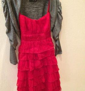 Платье и жакет на девочку, рост 156