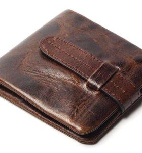 Мужской кожаный бумажник кошелек портмоне клатч