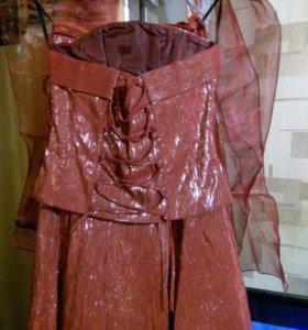 Комплект юбка карсет шарф