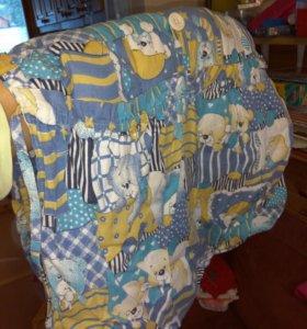 3 простыни и 4 кармана на детскую кроватку