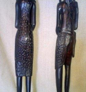 Афро фигурки из дерева
