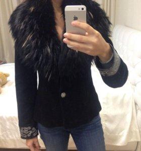 Куртка замшевая с натуральным мехом