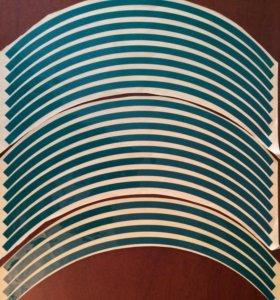 Наклейки на обода дисков R17