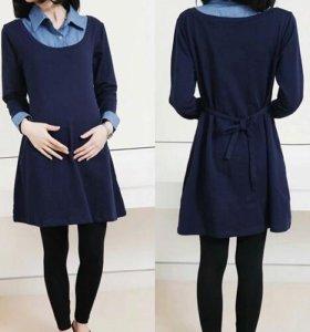 Теплое платье для беременных р-р 42-44-46