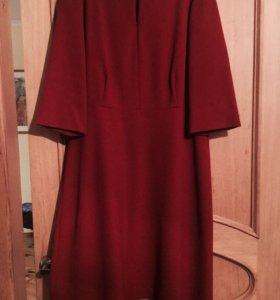 Элегантное франц-е Платье винного цвета.
