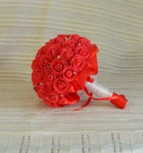 Свадебный букет из фоамирана