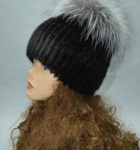 Норковая женская шапка
