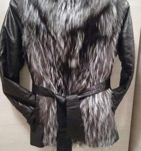 Куртка - жилетка из чернобурки