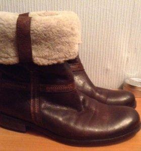Ботинки Италия кожа и мех натуральный