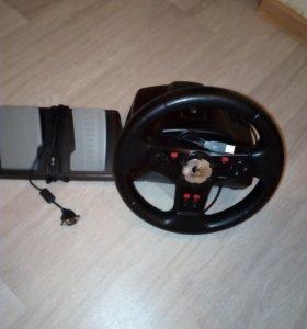 Игровой руль для PC.Logitech Vibration Feedback