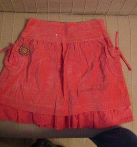 Детская велюровая юбка