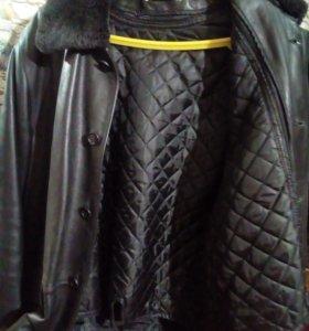 Натуральная,кожаная ,мужская  куртка.