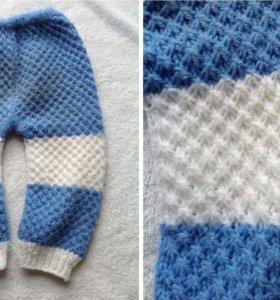 Детские вязанные штанишки