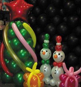 Цветы и фигуры из шаров!
